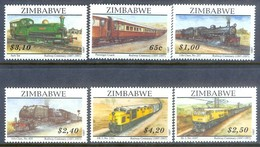 B147- Zimbabwe 1997 Railway Centenary. Locomotives. Train. Transport. - Trains