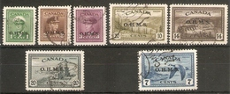 CANADA 1949 O.H.M.S. OFFICIALS TO 20c INCLUDING 7c AIR BETWEEN SG O162 And SG O171 FINE USED Cat £55+ - Officials