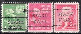 USA Precancel Vorausentwertung Preo, Locals Kansas, Stark 716, 3 Diff. 716 - Vereinigte Staaten