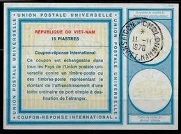 VIETNAM / VIET-NAM Vi19 15 PIASTRES Int. Reply Coupon Reponse Antwortschein IAS IRC O SAIGON CHOLONHWAN II.II.70 - Vietnam