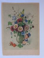 """Neujahr, Blumen, Kinder, Flöte, Pilze, Kleeblatt""  1950 ♥ (51244) - Neujahr"