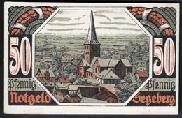 Germany Segeberg 1920 / 50 Pfennig / Stadt, Burg, Kirche / Gutschein / Notgeld, Banknote - [11] Lokale Uitgaven