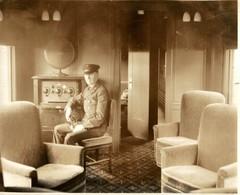 RADIO OBSERVATION CAR L'EMPLOYÉ DU RADIO RAILWAY CHEMIN DE FER EISENBAHN 24*19CM Fonds Victor FORBIN 1864-1947 - Trenes