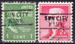 USA Precancel Vorausentwertung Preo, Locals Kansas, Sun City 729, 2 Diff. - Vereinigte Staaten