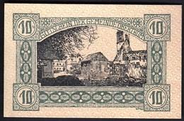 Austria Obertrum 1920 / 10 Heller / Gutschein / Bauernhaus Mit Bauern, Ortsmotiv / Notgeld, Banknote - Austria