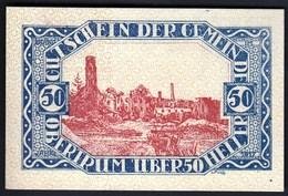 Austria Obertrum 1920 / 50 Heller / Gutschein / Bauernhaus Mit Bauern, Ortsmotiv / Notgeld, Banknote - Oesterreich