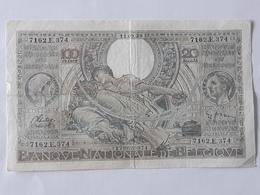 Belgique, 100 Francs-20 Belgas Type 1933 Du 11-09-1939 . Pas D'épinglage . - [ 2] 1831-... : Royaume De Belgique