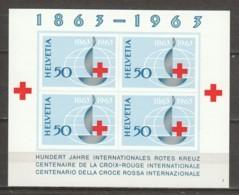 Switzerland 1963 Mi Block 19 MNH RED CROSS - Blocks & Sheetlets & Panes