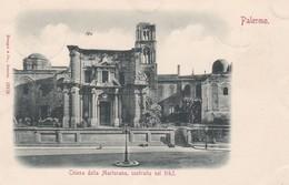 CARTOLINA - PALERMO - CHIESA DELLA MARTORANA COSTRUITA NEL1143 - VIAGGIATA PER PISA ( FRANCOBOLLO ASPORTATO) - Palermo