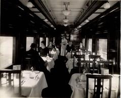 WAGON RESTAURANT NATIONAL DE CANADA RAILWAY CHEMIN DE FER EISENBAHN  24*19CM Fonds Victor FORBIN 1864-1947 - Trenes