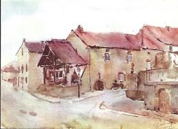 """Musée Folklorique Et Viticole """" A POSSEN """" Bech-Kleinmacher (Remich)   DESSIN  JULES LECLERQ Né En 1915 A SOUVRET BELG. - Cartes Postales"""