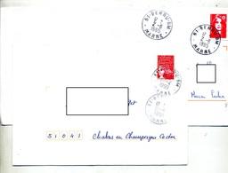 Lettre Cachet Berru Poste Mobile BM - Marcophilie (Lettres)