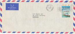 Kenya Air Mail Cover Sent To Denmark With Ship -  Boat Stamp - Kenya (1963-...)