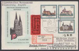 """Mi- Nr. U2 C2a, """"Philatelia 85"""", Als R- Eilbote Gelaufen - DDR"""