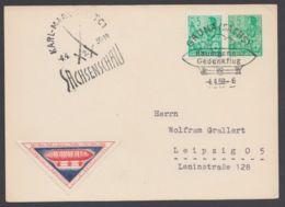 """Mi- Nr. PP 4A1/01, """"Baumgarten- Gedenkflug"""", 1959, Mit Zusatzfr., Pass. Sst. - DDR"""