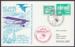 """Mi- Nr. PP 16 B1/01, """"60 Jahre Deruluft"""", Gedruckte Adresse - DDR"""