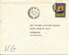 Algeria Cover Sent To Denmark 8-8-1967 Single Franked - Algeria (1962-...)