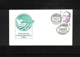 USA + Spain 1981 Space / Raumfahrt Space Shuttle - STDN Station Madrid Spain Interesting Cover - Briefe U. Dokumente