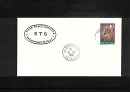 USA + Senegal 1981 Space / Raumfahrt Space Shuttle - STS Station Dakar Senegal Interesting Cover - Briefe U. Dokumente