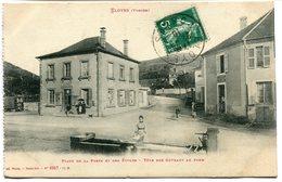 CPA - Carte Postale - France - Eloyes - Place De La Poste Et Des Ecoles - 1910 (I9634) - Andere Gemeenten