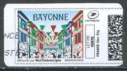 France Montimbrenligne Lettre Verte 50g Bayonne Oblitéré ° - France