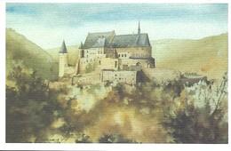 """ CHÂTEAU DE VIANDEN "" - AQUARELLE VUM CARLO HAAS  Impr. Hengen,Luxembourg - Cartes Postales"