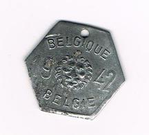 //  BELGIQUE - BELGIE -  HONDENBELASTINGPENNING  1941  LEEUWENKOP  N°170790 - Belgique