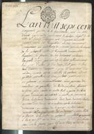 """Acte Notarié Sur Parchemin - Vente D'une Propriété Au Lieu Dit """" Grange Rollet """" à Montluel 1754 - Manuscripts"""