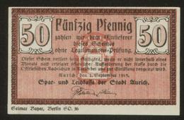 Notgeld Aurich 50 Pf 1918 - [11] Lokale Uitgaven