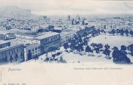 CARTOLINA - PALERMO - PANORAMA DELLA CITTA' VISTO DALL' OSSERVATORIO - VIAGGIATA PER PISA ( FRANCOBOLLO ASPORTATO) - Palermo