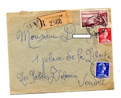 Lettre Recommandée Saint Sebastien Sur Evian Muller - Marcophilie (Lettres)