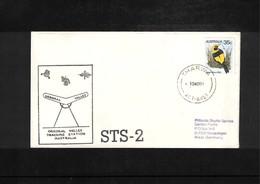 USA + Australia 1981 Space / Raumfahrt Space Shuttle - Tracking Station Orroral Valley Australia Interesting Cover - Briefe U. Dokumente