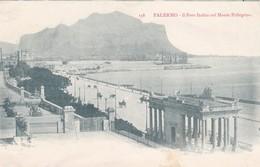 CARTOLINA - PALERMO - IL FORO ITALICO COL MONTE PELLEGRINO - VIAGGIATA PER PISA ( FRANCOBOLLO ASPORTATO) - Palermo
