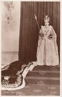 CORONATION SOUVENIR - H.M.  The QUEEN,  Valentine's PC - Royal Families