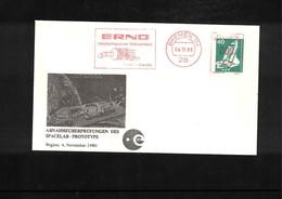 Germany 1980 Space / Raumfahrt  Spacelab Interesting Cover - Briefe U. Dokumente