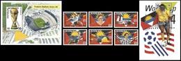 Soccer Football Barbuda Mail #1641/6 + Bl 298/9 Ovpt 1994 World Cup USA MNH ** - World Cup