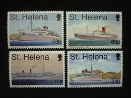 Saint Helena, 1996 Union Castle Mail Ships Scott #666-669 MNH Cv. 13,25$ - Isola Di Sant'Elena