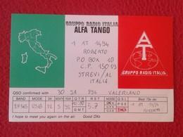 POSTAL TYPE POST CARD QSL RADIOAFICIONADOS RADIO AMATEUR GRUPPO ALFA TANGO ITALIA ITALY MAP MAPA CARTE POSTALE VER FOTOS - Tarjetas QSL