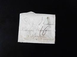 LETTRE DE JONZAC POUR MARSEILLE  -  1786  - - 1701-1800: Vorläufer XVIII