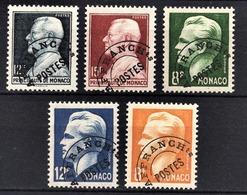 MONACO 1943 / 1951 - SERIE 5 TP / N° 6 / 7 / 8 / 9 /10 -  NEUFS** /4 - Monaco