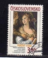 CZECHOSLOVAKIA CESKOSLOVENSKO CECOSLOVACCHIA 1988 PRAGA 88 PRAHA PRAGUE PAOLO VERONESE PAINTING USED - Blocchi & Foglietti