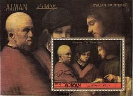 """Ajman 1972 Bf. 472A """"Tre Età Dell'uomo"""" - Quadro Dipinto Da Giorgione - Rinascimento Preobliterato Paintings - Arte"""