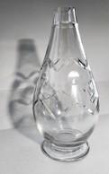 Vase Soliflore Ovoïde Motifs Géométriques Signé Cristalleries De Nancy H 16cm - Verre & Cristal