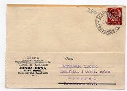 1938 YUGOSLAVIA, CROATIA, SLAVONSKI BROD, CORRESPONDENCE CARD TO BELGRADE, SERBIA, TEXTILE MANUFACTURING - Covers & Documents