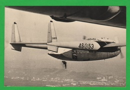 Pisa Aviazione Parà Aerei FAIRCHILD C-119 Lancio Paracadutisti 46° Brigata Aerea Avion Cpa 1966 - Parachutisme