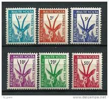 "Hte-Volta Taxe YT 21 à 26 "" Gazelle Série Complète "" 1961 Neuf** - Obervolta (1958-1984)"