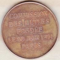 Médaille Impôt Et Taxe. Commission Des Huiles Fondée En 1871 Paris, Femme Nue, Par E. P. Tasset - Autres