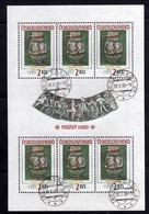 CZECHOSLOVAKIA CESKOSLOVENSKO CECOSLOVACCHIA 1988 PRAGA 88 PRAHA PRAGUE POTTERY BLOCK SHEET USED - Blocchi & Foglietti