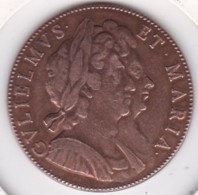 Token /Jeton GULIELMUS ET MARIA / William III 1688 – 1702 . Mary 1688 - 1694 - Royaux/De Noblesse