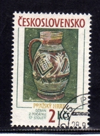 CZECHOSLOVAKIA CESKOSLOVENSKO CECOSLOVACCHIA 1988 PRAGA 88 PRAHA PRAGUE POTTERY 2z USED - Cecoslovacchia